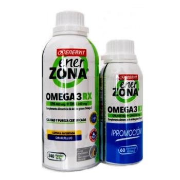 Enerzona Omega 3RX1gr |Aporta ácidos grasos Omega 3| 240 capsulas + 60capsulas Gratis.