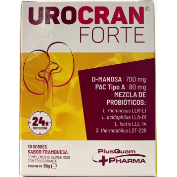 Urocran Forte |Complemento Alimenticio Para el Tracto Urinario| 30 sobres.