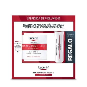 Eucerin Hyaluron Filler Volume Lift 50ml, Piel Seca Regalo Contorno de Ojos.